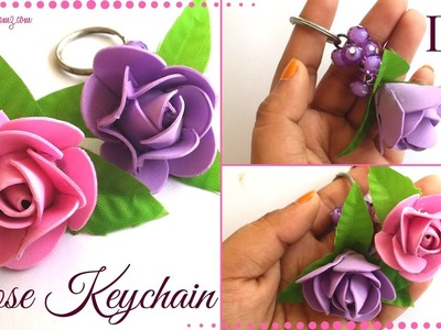 How to | DIY Easy Keychain Ideas with Rose for Girls | Simple Gift Ideas by Maya Kalista !