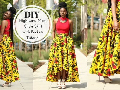 How to | DIY High Low Maxi Circle Skirt Tutorial | Part 1