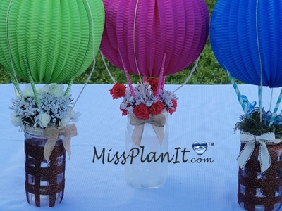 How To DIY: Tutorial Up Up and Away Baby Shower Centerpiece for Under $20!