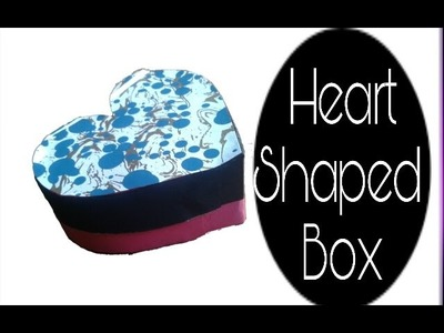 How to make a heart shaped box DIY |gift box tutorial| storage box| Step by step instructions