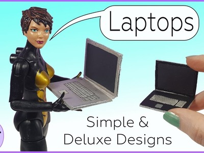 How to Make a Miniature Laptop, DIY for Dioramas or Dollhouses