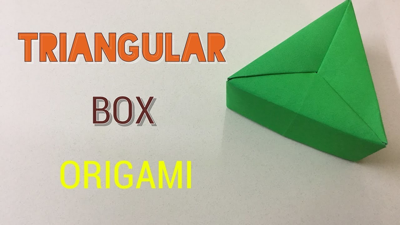 How to Make a Paper Triangle Box - Easy Craft Tutorials