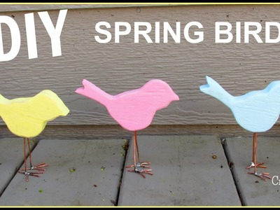 How To Make a Spring Bird Home Decor DIY