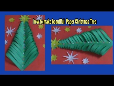 How to make beautiful CHRISTMAS TREE  with color paper