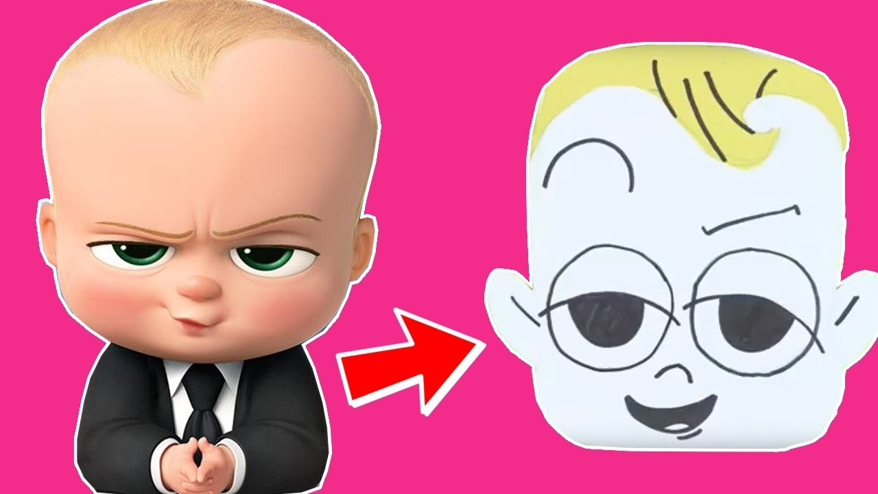 How To Make Boss Baby Fridge Magnet | Children Arts & Craft Tutorial | The Toy Club - Fun For Kids!