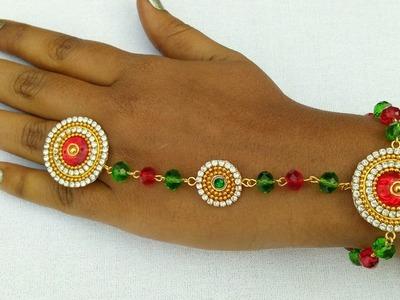 How To Make Designer Bracelet With Ring. Bridal Ring With Bracelet. DIY. Home Made Tutorial