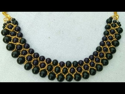 How To Make Designer Necklace. Designer Beeds  Necklace. DIY. Chokar. Home Made Tutorial