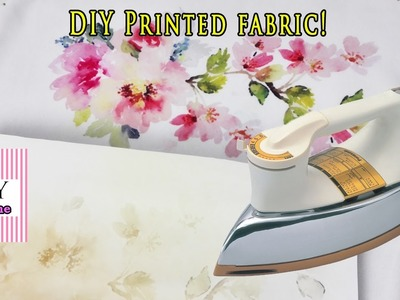 How To Make DIY Printed Fabric Using Home Iron and Iron Hot Paper Transfer Paper