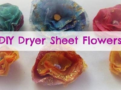How to make Dryer Sheet Flowers. DIY handmade Flowers