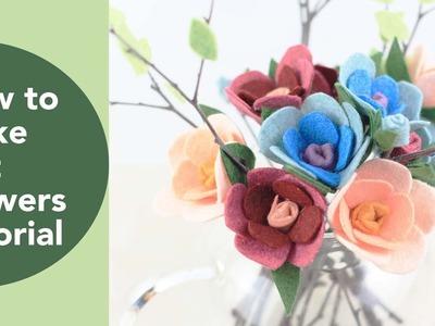 How to Make Felt Flowers Tutorial, Hot glue DIY crafts