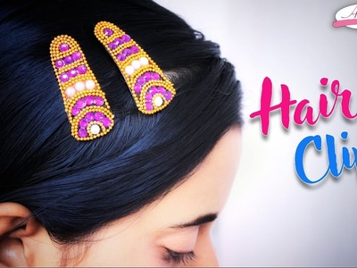 How to make Hair Clips Beautifull | hair accessories | Step by step | DIY | Artkala 162