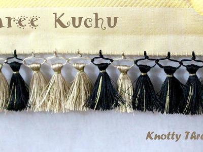 How to make Saree Kuchu | Double Colored | Tutorial | DIY |Knotty Threadz !!