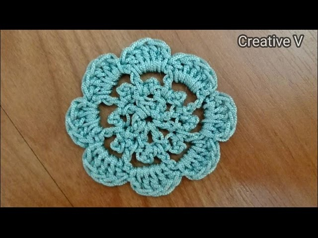 How To Make Simple Crochet Flower. Tutorial 2