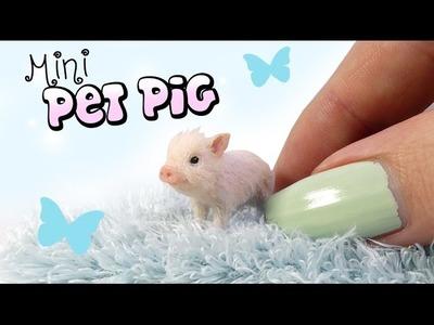 How To Mini Pet Pig Tutorial. DIY Doll Miniature Pig