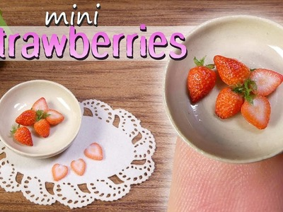 How To Miniature Strawberry Tutorial. DIY Miniature Food