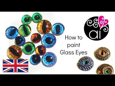 How to paint glass eyes for Polymer Clay Creations | DIY Tutorial