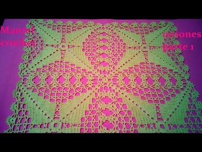 Mantel  a crochet como unirlo ( parte 1)