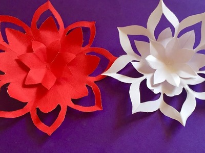 Mothers day gift ideas   How to make a paper Flowers   easy paper flower craft for home decoration