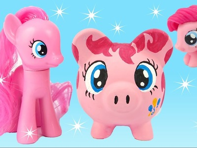 My Little Pony Pinkie Pie Teaching Painting and Drawing to Kids Craft Learning Piggy DIY
