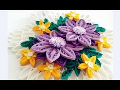 Paper Quilling Flower for Wall Hanging Decoration 17. DIY Wall Decoration.Paper Flower Art