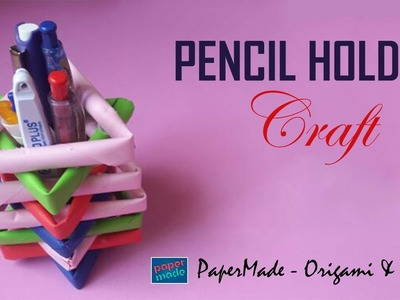 Pencil Holder with papers DIY | PaperMade