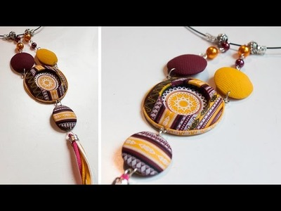POLYMER CLAY & SILKSCREEN - Ethnic. Indian necklace - DIY