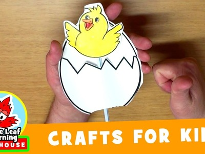 Pop-Up Chick Craft for Kids   Maple Leaf Learning Playhouse