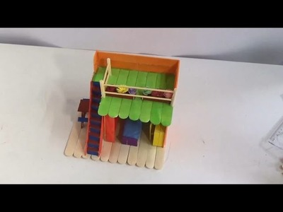 Popsicle Stick Miniature House - DIY Miniature Dollhouse Kit