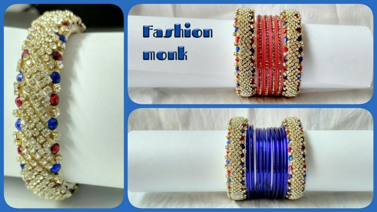 Rich Look Diamond Bangle made out of Silk Thread | DIY Designer Bangle Making Tutorial