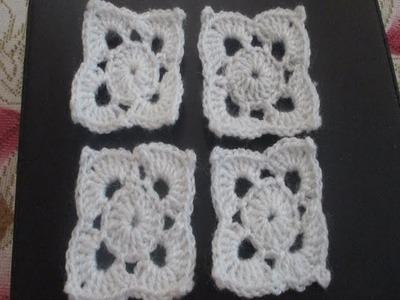 Square Pattern using Crochet [Hindi]