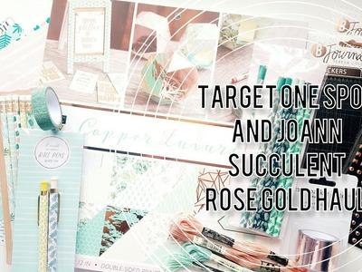 Target One Spot & Joann Craft Haul   Succulent & Rose Gold