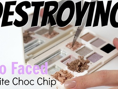 THE MAKEUP BREAKUP - DIY Galaxy.Ombre Palette Fail - Destroying Too Faced White Choc Chip Palette