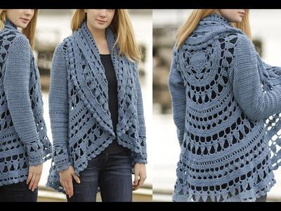 كروشيه كارديجان صيفي و شتوي ج3 Crochet cardigan for winter and summer part 3