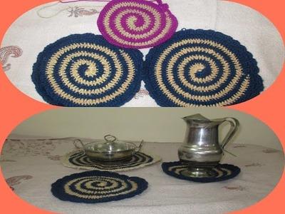 Utensil dining table mat using crochet [Hindi]