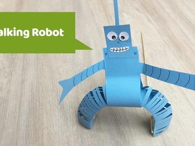 Walking robot fun craft for kids to do at home