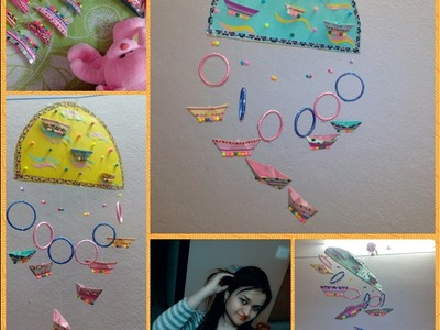 Wall Hanging With Bangles(simple and easy) paper wall hanging.Wall Decor | Best out of waste DIY