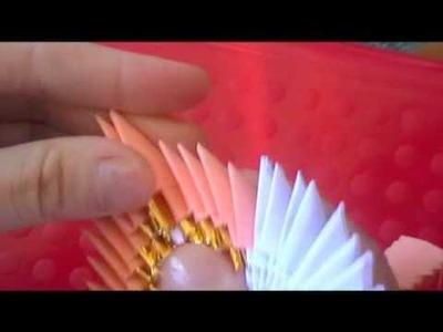 3D origami: elegant peacock