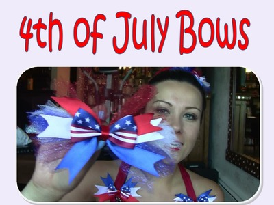 4th of July Bows!!