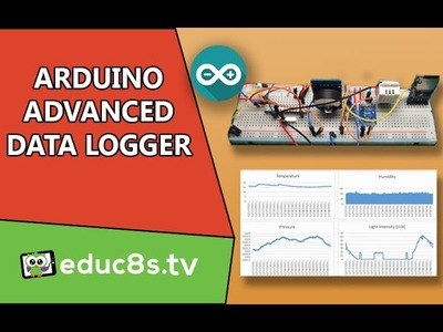 Arduino Project: Advanced Datalogger with ATMEGA328, BMP180, DHT22, BH1750 and sd card