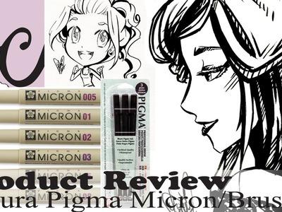 Art Supply.Product Review, Sakura Pigma Micron Set & Professional Brush Pen Set (OCs 2 Speed Paints)