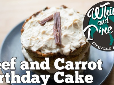 Beef and Carrot Layered Cake | Homemade Dog Birthday Cake