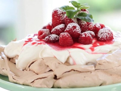 Beth's Chocolate Raspberry Pavlova Recipe | ENTERTAINING WITH BETH