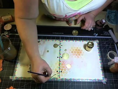 Bloom Girl Art Journal 1 with Jamie Dougherty and Prima Mark