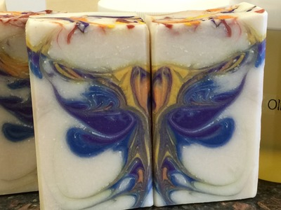 Butterfly Swirl Sapphire Mask Cold Process Soap Making from a Kit