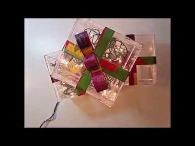 CD Jewel Case Christmas Light Boxes