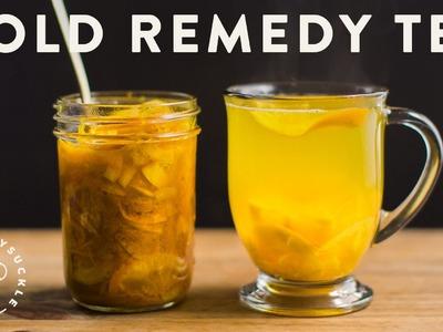Cold Remedy Tea with Turmeric Ginger Honey Citrus - Honeysuckle