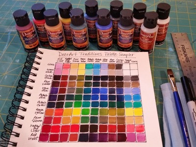 Creating a Color Mixing Guide Chart | Acrylic Painting Tutorial for Beginners | Learn to Mix Paint