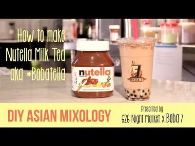 DIY Asian Mixology: Nutella Boba Milk Tea