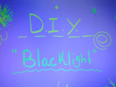 """DIY """"Black Light"""" For iPhones and iPod 5"""