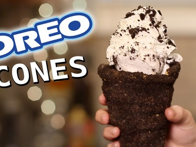 DIY Oreo Cookie Cones